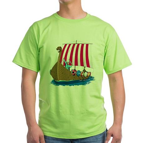 Viking Ship Green T-Shirt