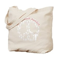 peacelovezombiesblk Tote Bag