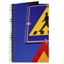Europe, Iceland. Road Sign Journal