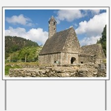 Ireland, County Wicklow, Glendalough, Ch Yard Sign