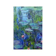 Journal Monet Lilies Rectangle Magnet