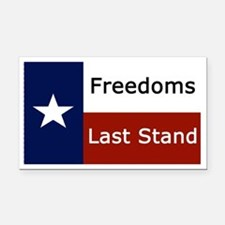 Freedom Rectangle Car Magnet