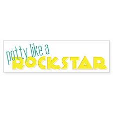 Potty Like a Rockstar Bumper Sticker