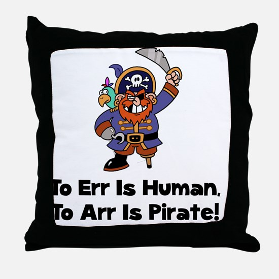 FBC To Arr Is Pirate Black ONLY Throw Pillow