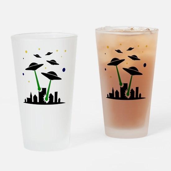 FBC UFO Attack Black Drinking Glass