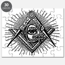 Masonic Square Compass and Eye Puzzle