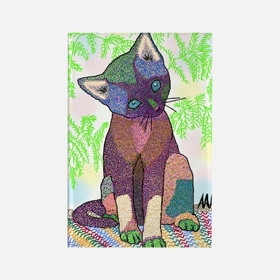 Kitty Pet Star (Note Card) Rectangle Magnet