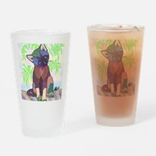 Kitty Pet Star (Note Card) Drinking Glass