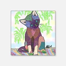 """Kitty Pet Star (Note Card) Square Sticker 3"""" x 3"""""""