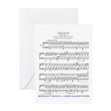 Moonlight-Sonata-Ludwig-Beethoven-iP Greeting Card