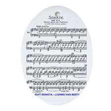 Moonlight-Sonata-Ludwig-Beethoven-iP Oval Ornament