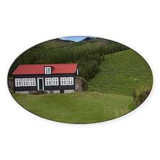 Classic Icelandic rural architectur Decal