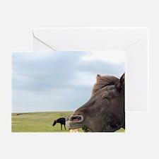 Icelandic horse (Equus scandinavicus Greeting Card