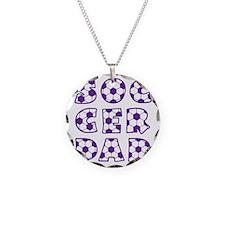 white  purple, Dad block Necklace