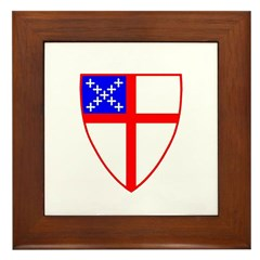 Episcopal Shield Framed Tile
