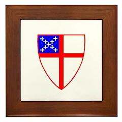 Episcopal Shield Framed Tile