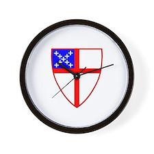 Episcopal Shield Wall Clock