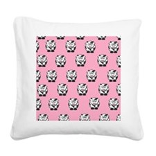 cowspink Square Canvas Pillow