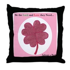 Red Clover 2 Throw Pillow
