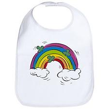 Shamrock Rainbow Baby Bib
