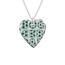 white  green, Dad block Necklace