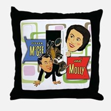 Fibber McGee And Molly Throw Pillow