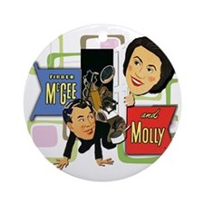 Fibber McGee And Molly Round Ornament