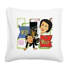 Fibber McGee And Molly Square Canvas Pillow
