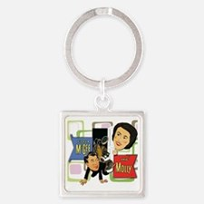 Fibber McGee And Molly Square Keychain