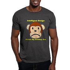 Intelligent Design Makes My Monkey Sad 2 T-Shirt