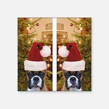 "flip flops christmas boxer Square Sticker 3"" x 3"""