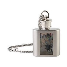 Black and White Bull Flask Necklace