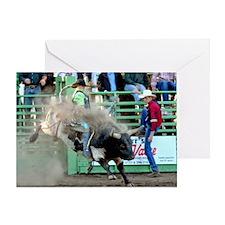 Black and White Bull Greeting Card