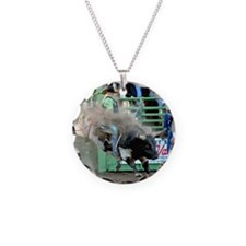 Black and White Bull Necklace