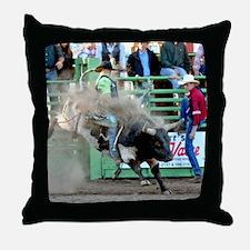 Black and White Bull Throw Pillow