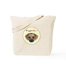 Puggle mom circle Tote Bag