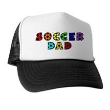 white, multi, Dad Trucker Hat