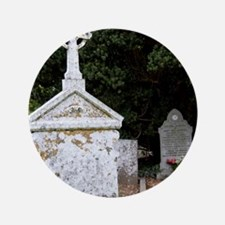 """12th Century Cemetary at Jerpoint Abbe 3.5"""" Button"""