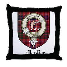 MacRae Clan Crest Tartan Throw Pillow