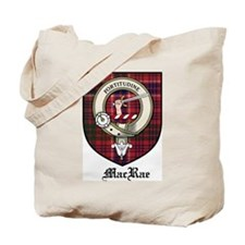 MacRae Clan Crest Tartan Tote Bag