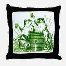 Drunk Frogs St Patricks Day Throw Pillow