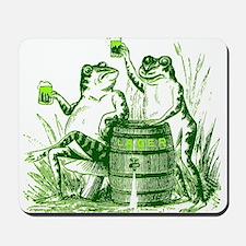 Drunk Frogs St Patricks Day Mousepad