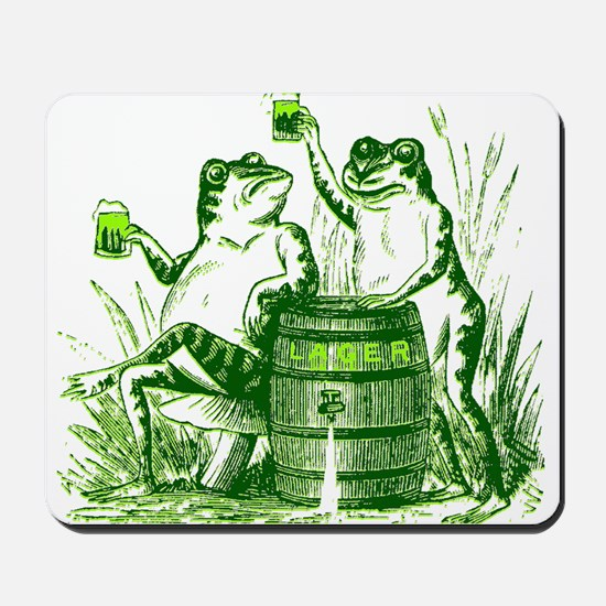Drunk Frogs St Patricks Day Mousepad