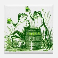 Drunk Frogs St Patricks Day Tile Coaster