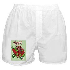 greeting card christmas dachshund joy Boxer Shorts