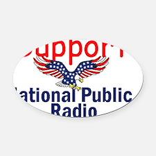 NPR Support Oval Car Magnet