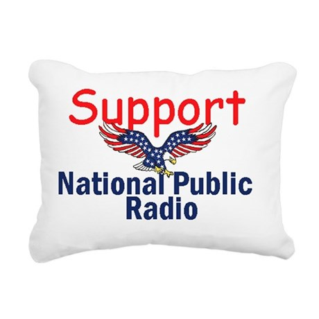 NPR Support Rectangular Canvas Pillow