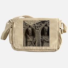 Medieval stone carving of Saints at  Messenger Bag