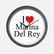"""I Love Marina Del Rey"" Wall Clock"