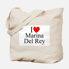"""I Love Marina Del Rey"" Tote Bag"